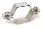 Collier hexagonal deux pièces avec visTH-inox304