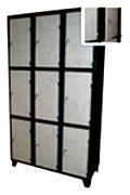 Vestiaire métallique à 9 cases