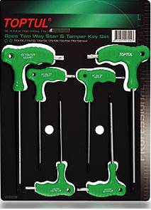 Jeu 6 clés male en T T10-T40