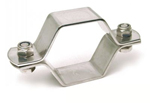 Collier hexagonal deux pièces avec vis TH - inox 304