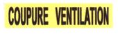 Panneau coupure ventilation