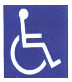 Panneau handicape