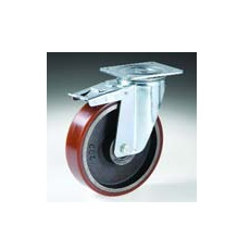 Roue pivotante à frein polyrethane AGP/2 125