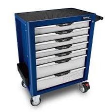 Servante 7 tiroirs pro bleu
