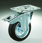 Roue pivotante D125   frein