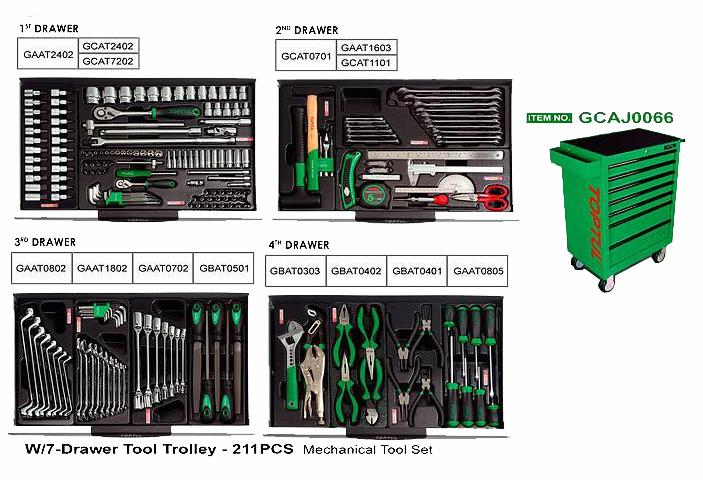 Servante 7 tiroirs 211 outils general